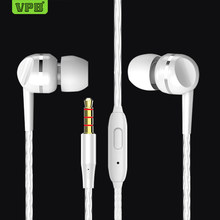 VPB S23 Earphone Super Bass Microphone in ear 3.5mm For iphone 6 6s xiaomi for Mobile phone(China)