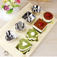1 pcs Stainless Steel Cupcake Mould DIY Bakeware Tools Salad Dessert Cake Cheese Baking Mold