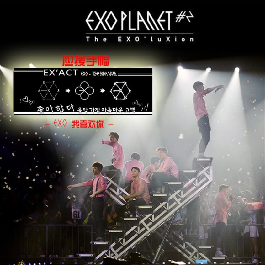 Kpop EXO Concert Airport Fabric Banner Chanyeol Baekhyun Hang Up Poster Fan Gift
