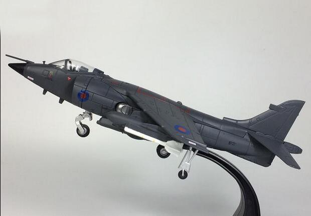 JL 1:72 Falklands War British harrier fighter model Alloy aircraft model Collection model