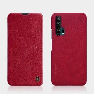 Image 2 - Dla Huawei Honor 20 skrzynki pokrywa 6.26 NILLKIN Vintage Qin odwróć pokrywa portfel PU skóra + PC dla Huawei Honor 20 Pro przypadku