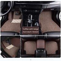 Custom car floor mats for Cadillac SLS ATSL CTS XTS SRX CT6 ATS Escalade auto accessories car styling Custom auto mats Black/red