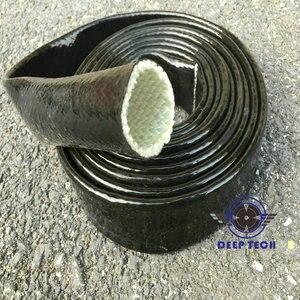 Image 3 - 3/4 inch X 3ft Zwart Vulcan Fire Mouwen Glasvezel Gevlochten Vlam Shield Firesleeving Hitteschild Voor Motor Slang