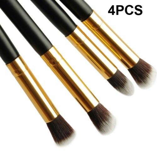 4 pcs/lot Pro Makeup Tool Brush set Eyeshadow Foundation Make Up Brush Gold+Black Makeup Brushes