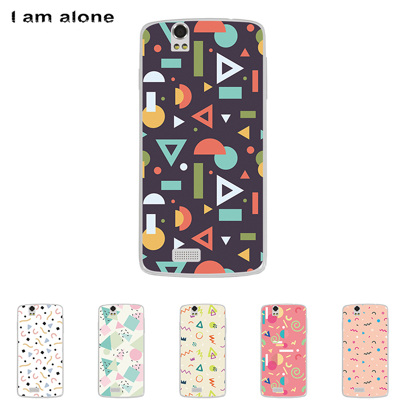 For Fly IQ4503 Era Life 6 Solf TPU Silicone Flower Case Mobile Phone Cover Bag Cellphone Housing Shell Skin Mask DIY Customize