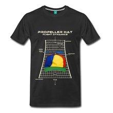 Hélices sombrero hombres Camiseta 100% algodón hombres camiseta Camisetas  Tees