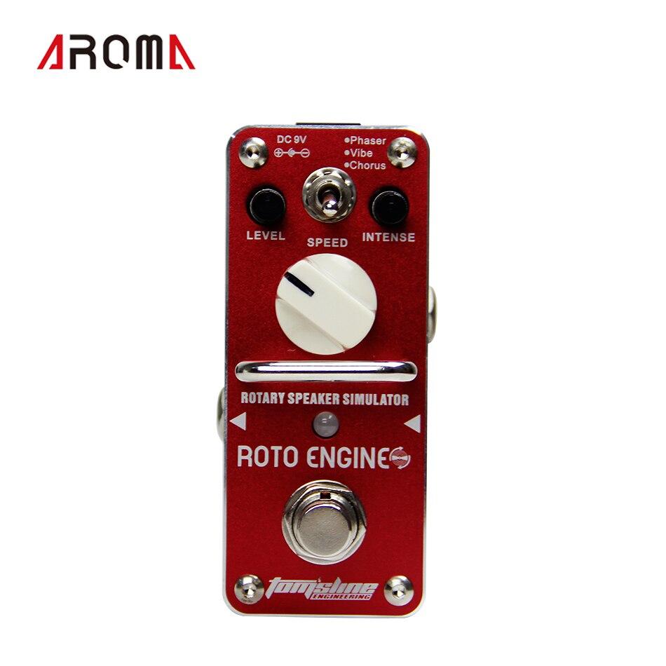 AROMA ARE-3 pédale d'effet de guitare avec simulateur de haut-parleur rotatif avec Phaser Vibe Chorus