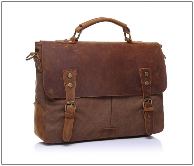 Foikvoon hombres Vintage bolso de mensajero de moda todo-fósforo bolsa de mensajero de marca hombre Popular Casual bolso de hombre bolsa de negocios - 3