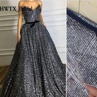 Luxury Sequined Mother Of The Bride Dresses 2018 Yousef Aljasmi A Line Long Plus Size Evening Formal Dress Arabic Prom Gowns