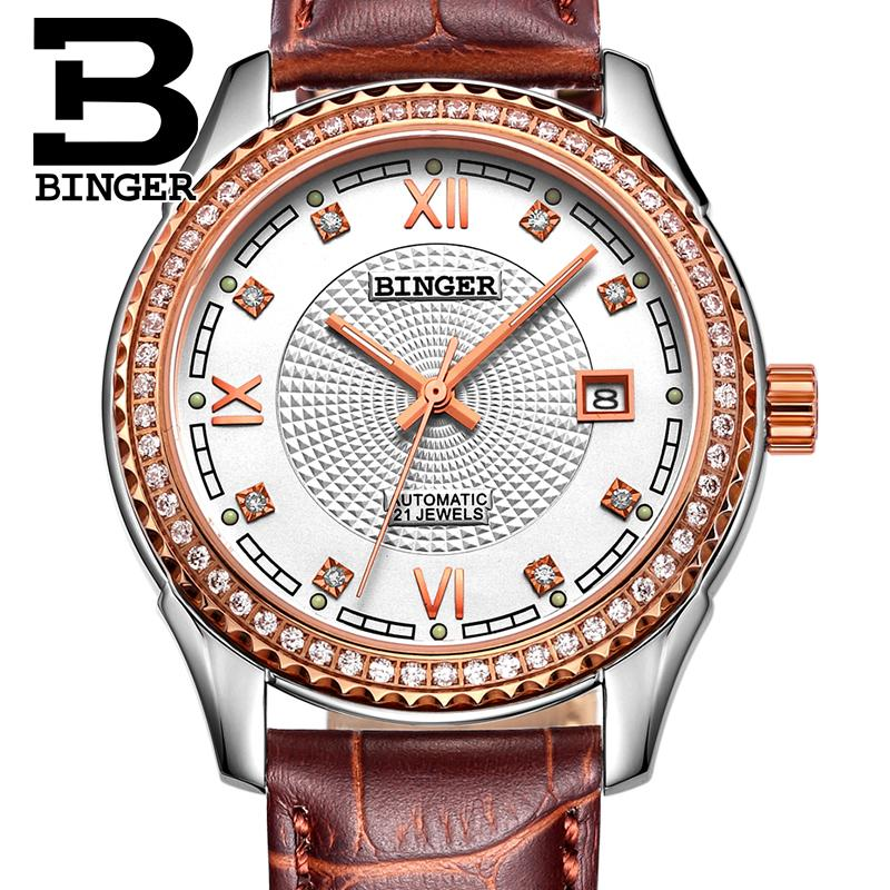 Switzerland font b men s b font font b watch b font luxury brand Wristwatches BINGER