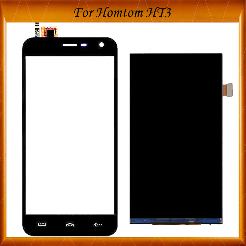 100% Working Well For Hontom HT3 LCD Display+Touch Screen LCD Digitizer Glass Panel Replacement For ht 3 lcd FPC-501513-A