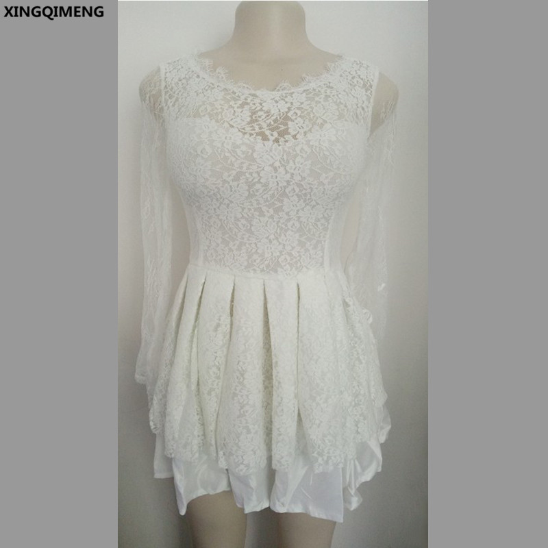 Simple Cheap Elegant Long Sleeves Wedding Dresses Lace: In Stock Cheap Simple Little Ivory Dress Short Elegant