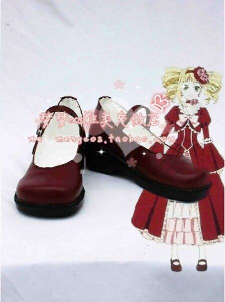 Nueva llegada negro mayordomo Elizabeth Cosplay zapatos
