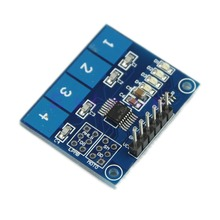 Новый TTP224 4-полосная Емкостный Сенсорный Выключатель Цифровой Сенсорный Датчик-Y103