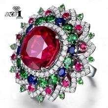 Engagement-Rings Zircon Princess Fashion Yayi Jewelry Multi-Color Cut-6.3-Ct