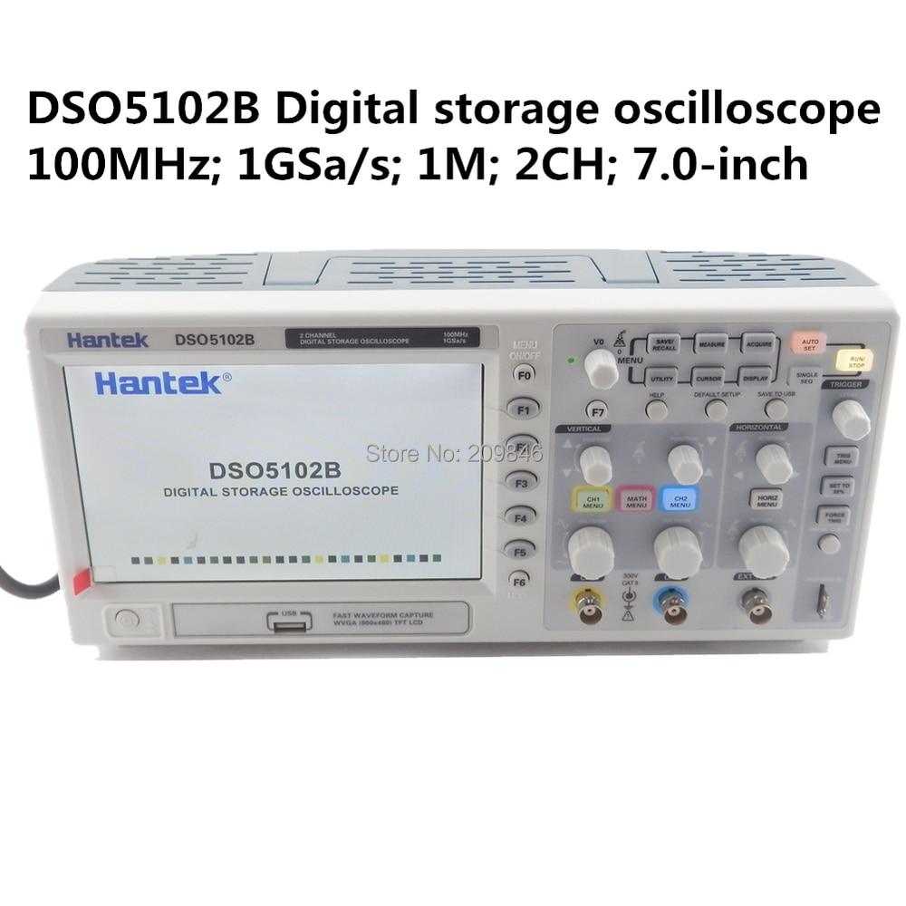 Hantek DSO5102P Digital Storage Oscilloscope Usb 100MHz 1GSa//s 40K,2 channel,2CH