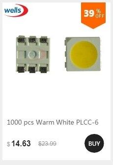 50 SMD DEL PLCC 2 PLCC 2 3528 BLANC 6000 ° K 3000 McD