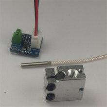 Prusa Reprap impresora i3 3D volcán PT100 total kit de actualización sensor de temperatura PT100 volcán bloque calentador para PT100 amplificador