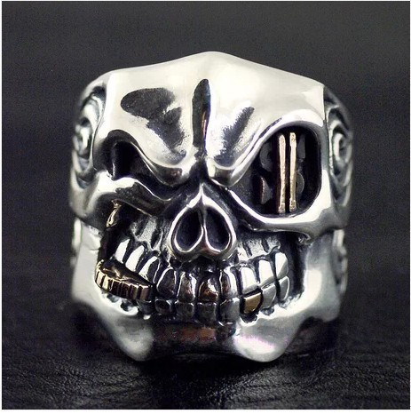 Thailand import STARLINGEAR style import Thai silver skull ring thailand imports skull blood new skeleton silver ring