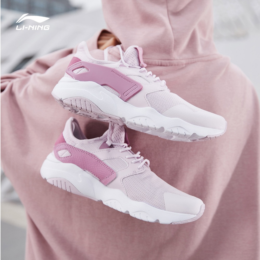 Li Ning Women CARNIVAL Walking Shoes Light Weight Classic Fitness LiNing Breathable Sport Shoes Leisure Sneakers