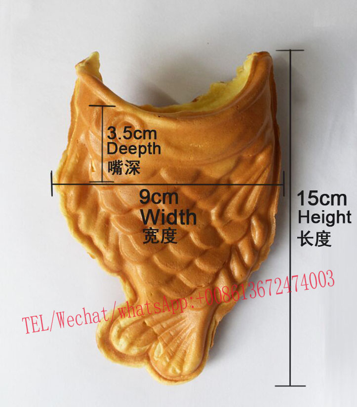 Free Shipping Cost Commercial Use <font><b>Ice</b></font> Cream Taiyaki Machine Warped-tail Fish Cone Waffle Makre