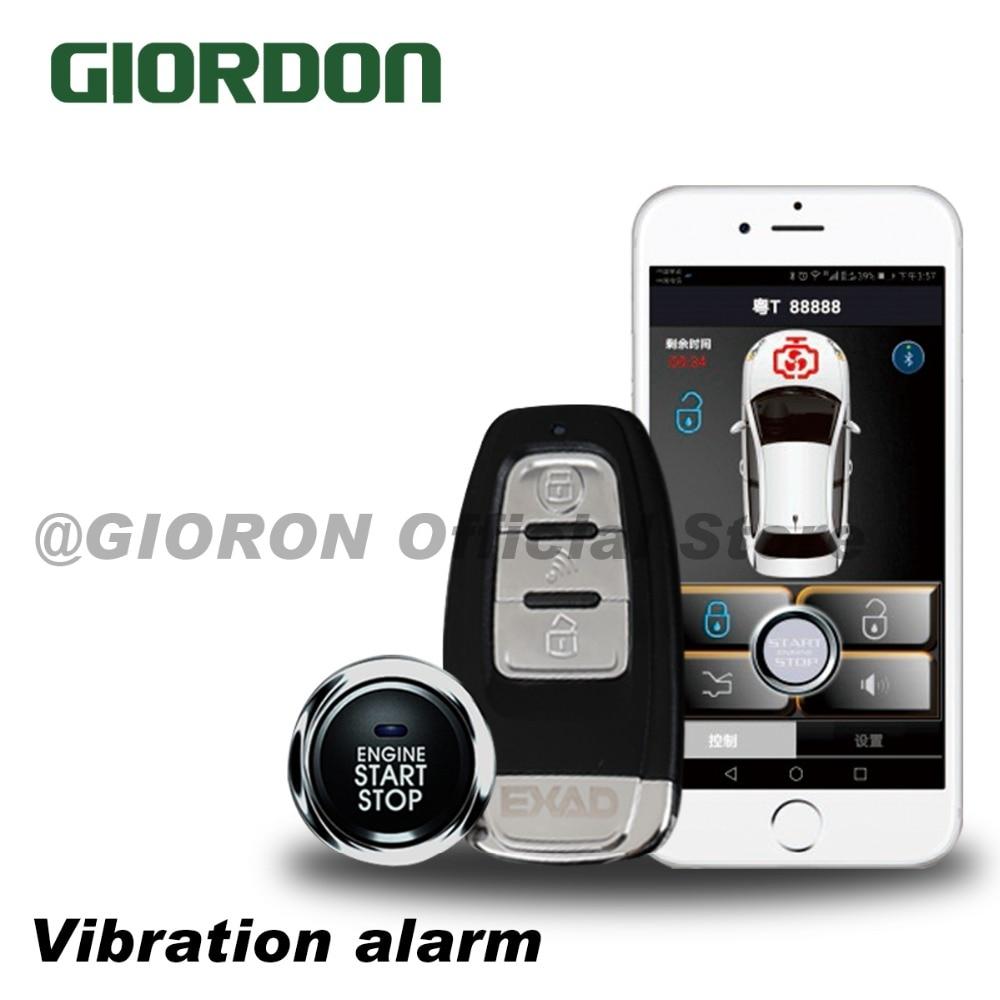 Universel de voiture téléphone bluetooth connecté à la voiture Sans Clé système d'accès Une touche pour démarrer la alarme anti-vol fonction