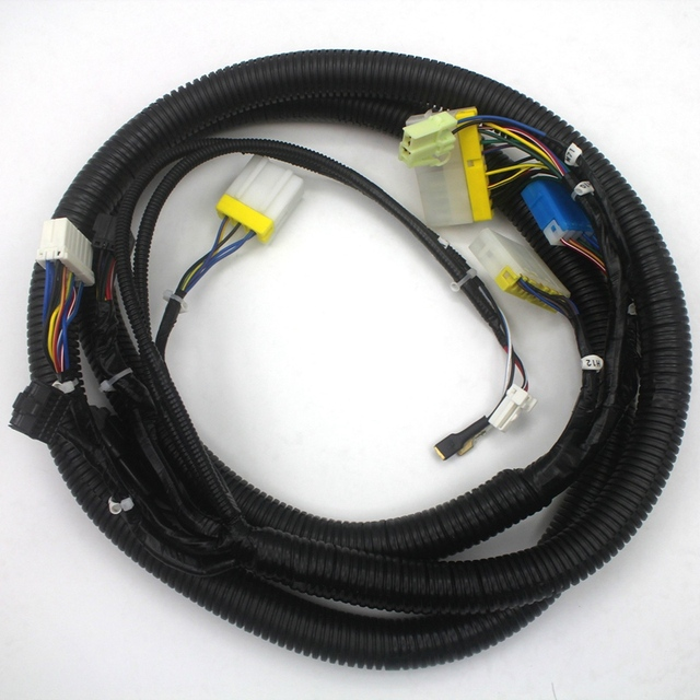 pc200-7 pc-7 monitor connector wiring harness 208-53-12920 for komatsu  excavator wire cable, 3 month warranty
