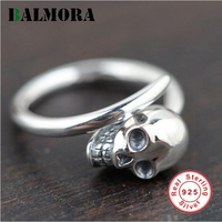 100 Real Pure 925 Sterling Silver Ring Unique Silver 925 Skull Rings Best Gift For Women