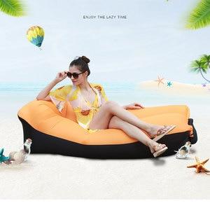 Image 1 - מהיר מתנפח אוויר ספה מיטת ריהוט גן בחוץ קמפינג עמיד למים עצלן שינה שקיות מתקפל Protable אוויר ספה