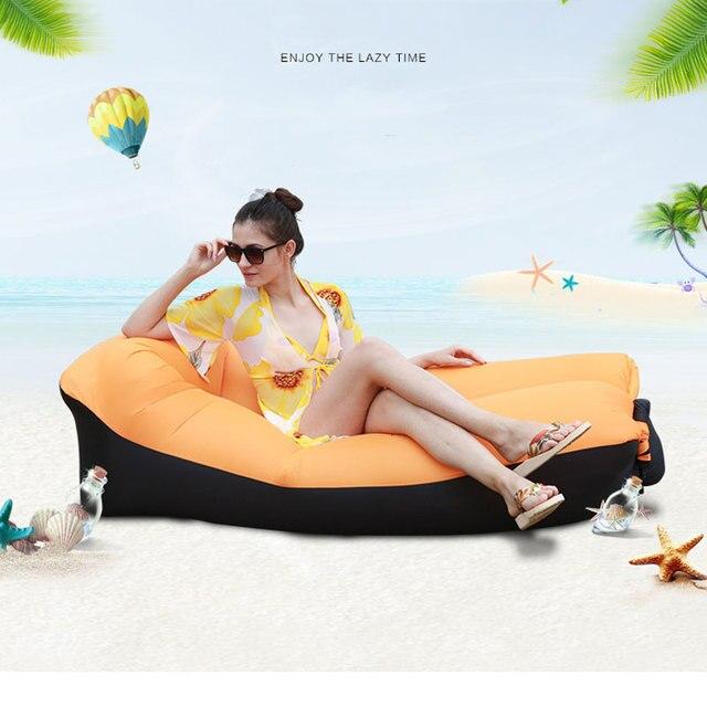 מהיר מתנפח אוויר ספה מיטת ריהוט גן בחוץ קמפינג עמיד למים עצלן שינה שקיות מתקפל Protable אוויר ספה