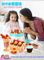 75 pcs fruit birthday cake slice toy girl house kitchen set DIY super deluxe children gift best sells