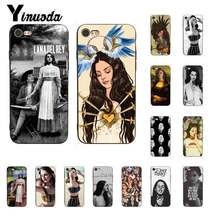 Yinuoda Lana Del Rey Funny Fashion Zachte zwarte Telefoon Case voor iPhone 8 7 6 6S Plus X XS MAX 5 5S SE XR 11 11pro 11promax(China)