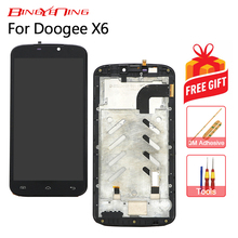 BingYeNing New Original For Doogee X6 Touch Screen + LCD Display+Frame Assembly Replacement