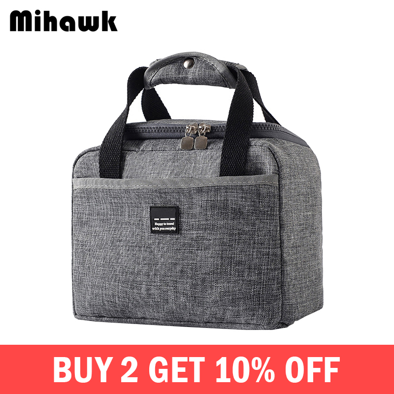 Mihawk Waterproof Insulated Lunch Bags Oxford Travel Necessary Picnic Pouch Unisex Thermal Dinner Box Food Case Accessories Gear(China)