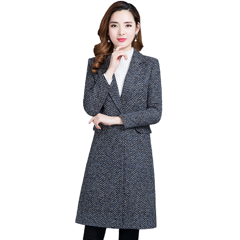 Fashion   Trench   Coat Women 2019 Spring Autumn Crude Braid Cloth Wild Coat Plus size Female Slim Windbreaker Long Casual Tops 2645