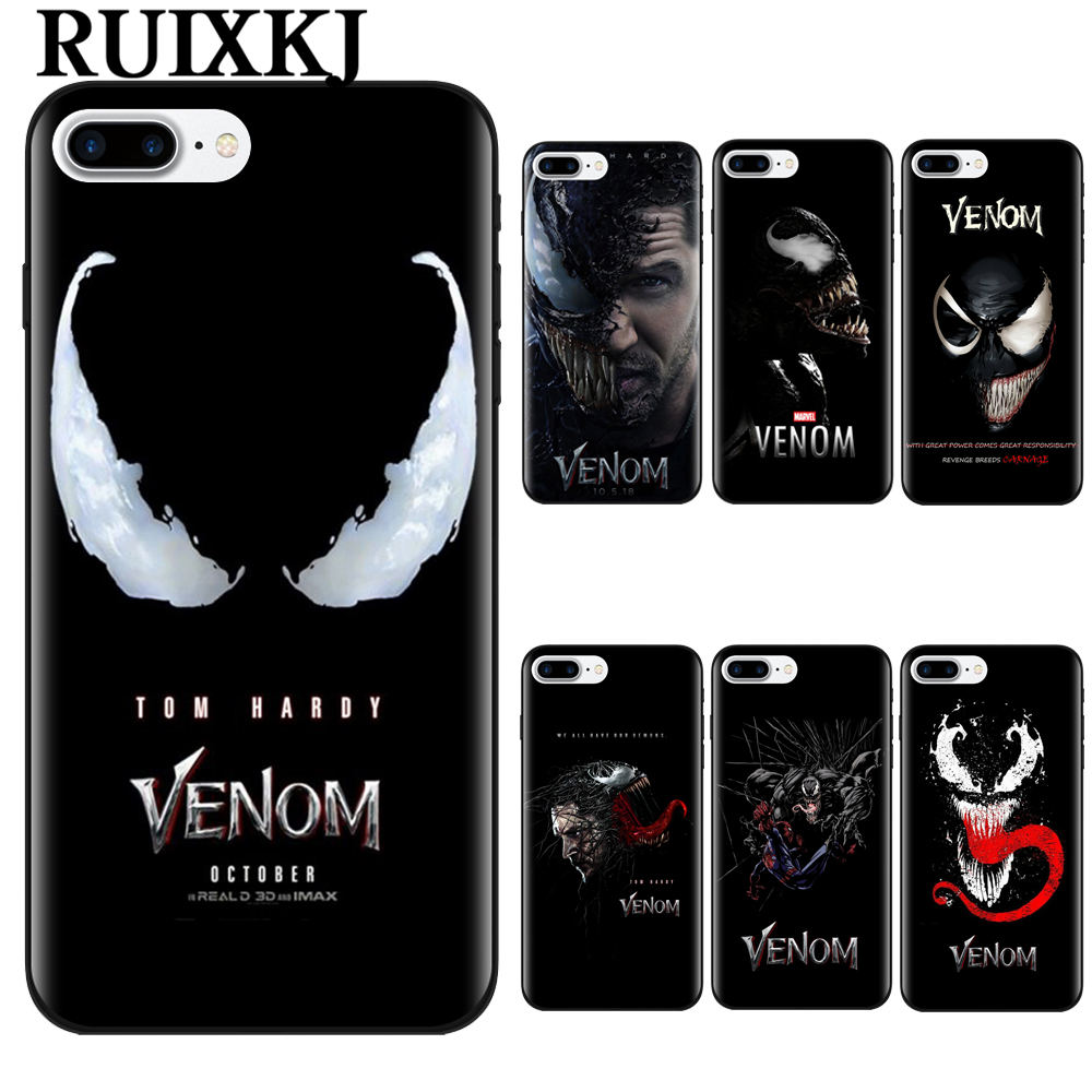 Venom 2018 Movie Tom Hardy Poster Coque Tpu Soft Silicone Phone Case Cover Shell For Apple IPhone 5 5s SE 6 6s 7 8 Plus X 10 iPhone