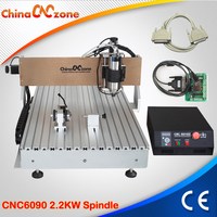CNC 6090 Router Milling Engraving Machine 3axis 4axis 2200W USB Parallel Port Water Cooling Carving Ball