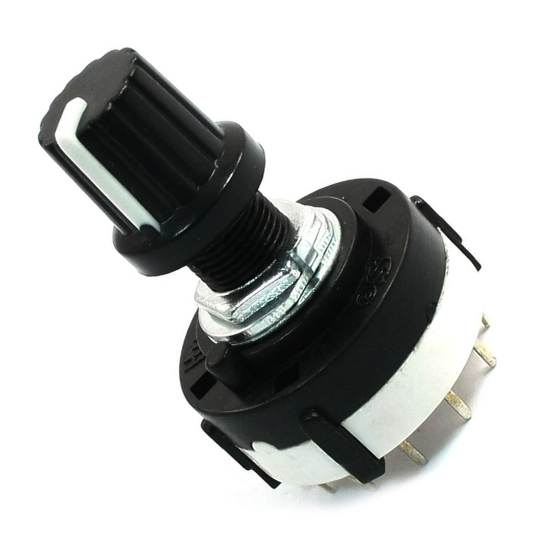 JFBL 2X Hot 4P3T Single Deck Rotary Switch Band Selector 4 Pole 3 Position with Knob Black 4pcs band channael rotary switch 2p3p 2 pole 3 position single deck