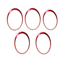 5Pcs Car Styling Red Air Vent Outlet Ring Cover Trim Auto Interior Accessories For Mercedes Benz A/B/CLA/GLA Class 180 200 220