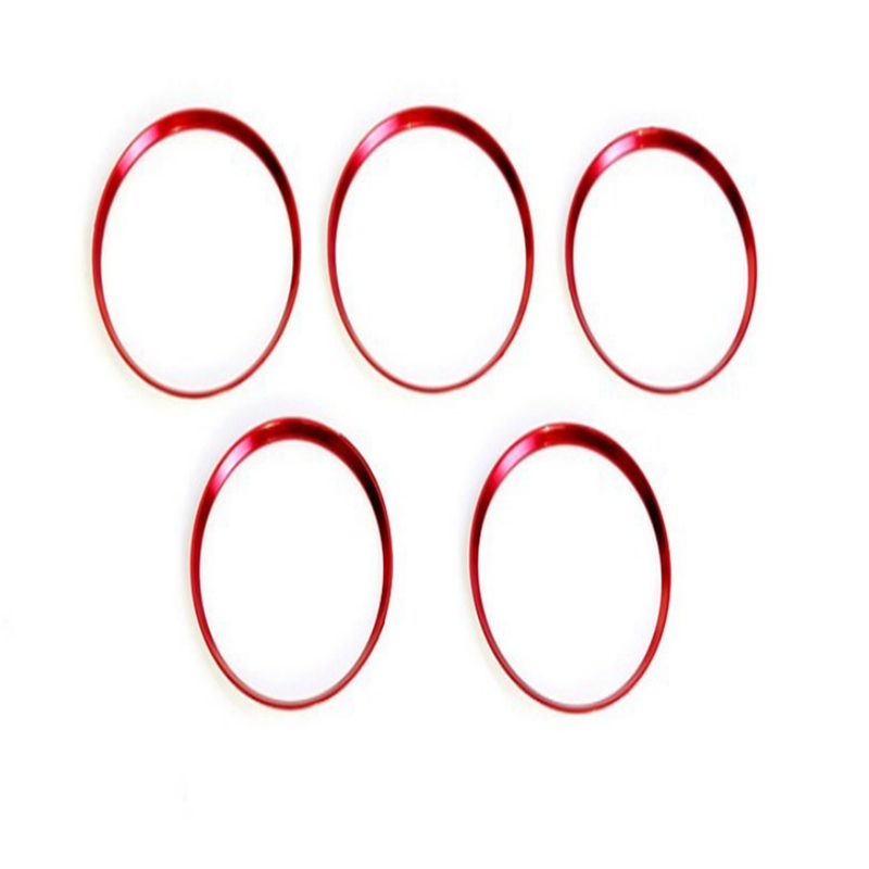 5Pcs Car Styling Red Air Vent Outlet Ring Cover Trim Auto Interior Accessories For <font><b>Mercedes</b></font> Benz <font><b>A</b></font>/B/CLA/GLA Class <font><b>180</b></font> 200 220 image