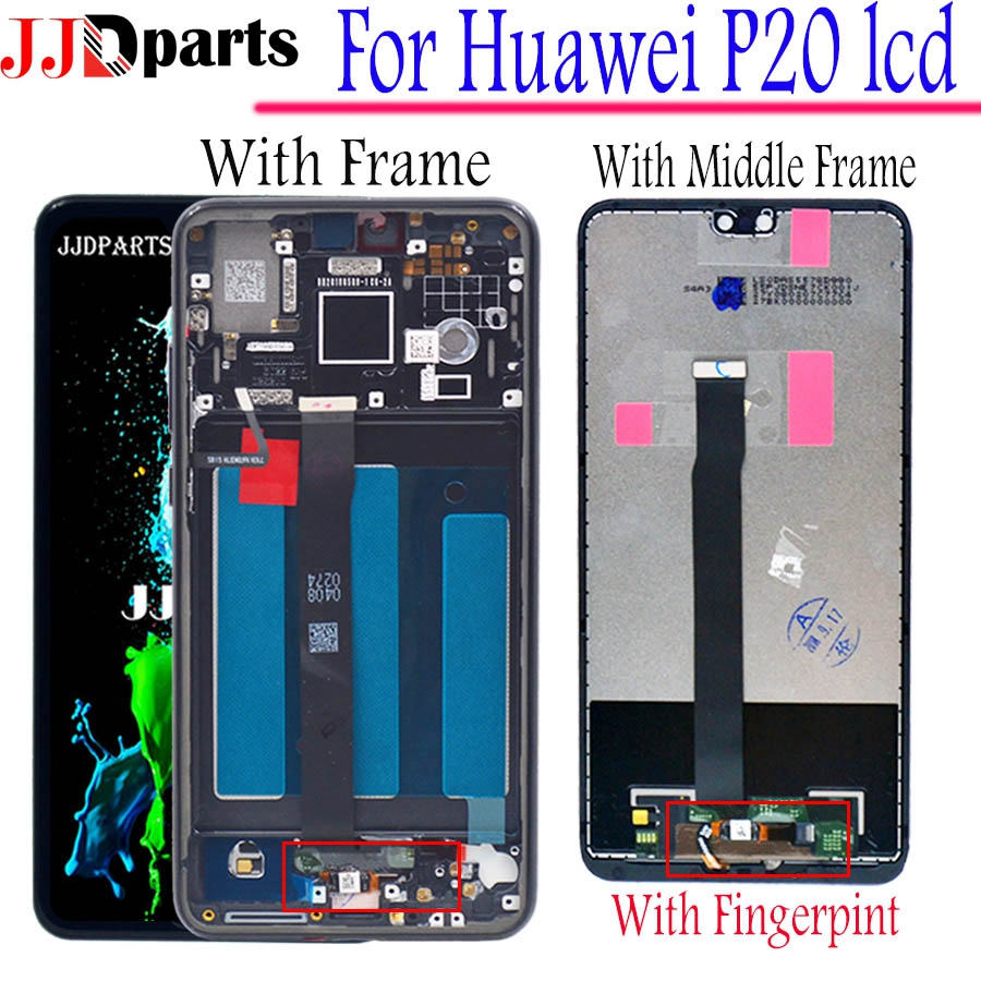 For Huawei P20 LCD Display Touch Screen Digitizer Assembly lcd huawei p20 with Frame for Huawei