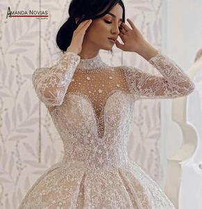 Image 2 - Amanda Novias brand trouwjurk lange mouwen bruid jurk 2019