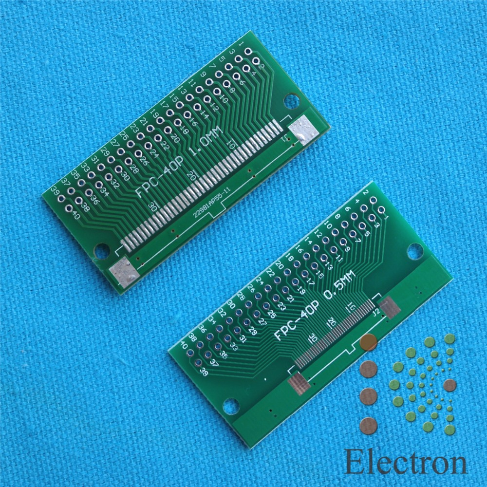 3pcs/lot 40P FFC FPC Adapter Plate 0.5MM/1.0MM Pitch to 2.54mm 40Pin Flat Cable Socket Connector for PCB Board TFT LCD new 60pcs lot 8 pin dip square hole ic sockets adapter 8pin pitch 2 54mm connector