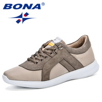 BONA New Popular Mens Casual Shoes Spring Autumn Breathable Light Sneakers Footwear Fashion Zapatillas Krasovki Men Trainers