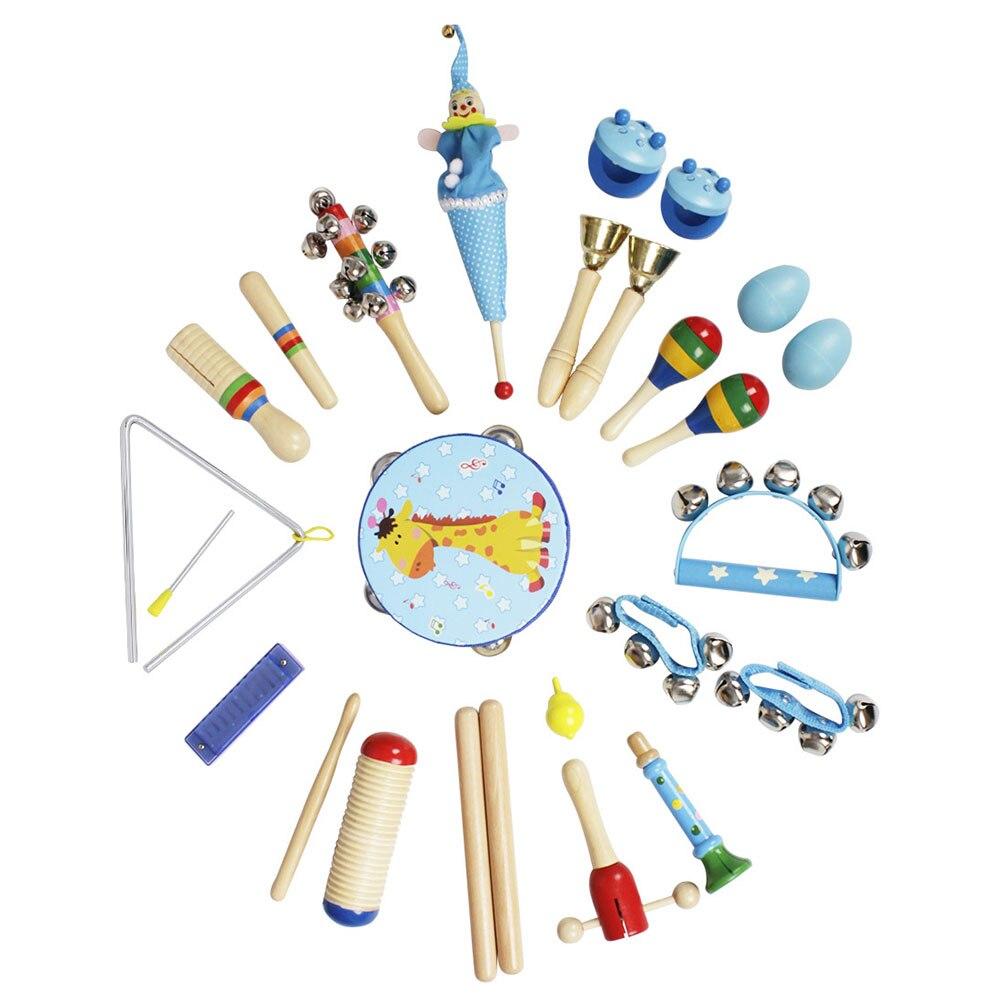 Jouets musicaux préscolaires 22 pièces bambin Instruments de musique en bois percussions jouets musicaux ensemble offre spéciale 2019