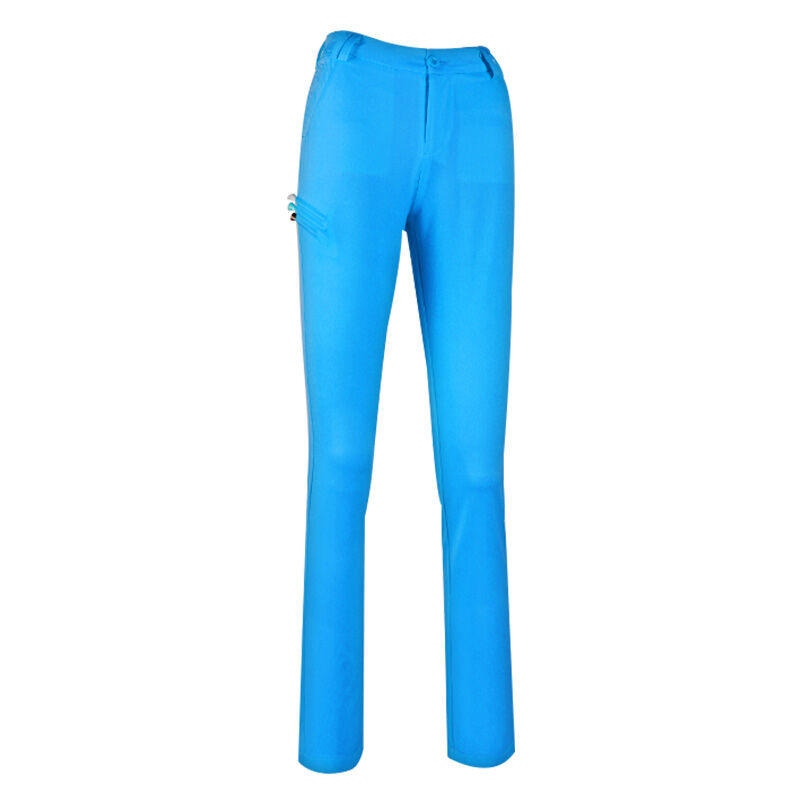 2016 New Authentic PGM Womens Pants Golf Trousers Slim Stretch Pants Can Insert Ball TEE Blue