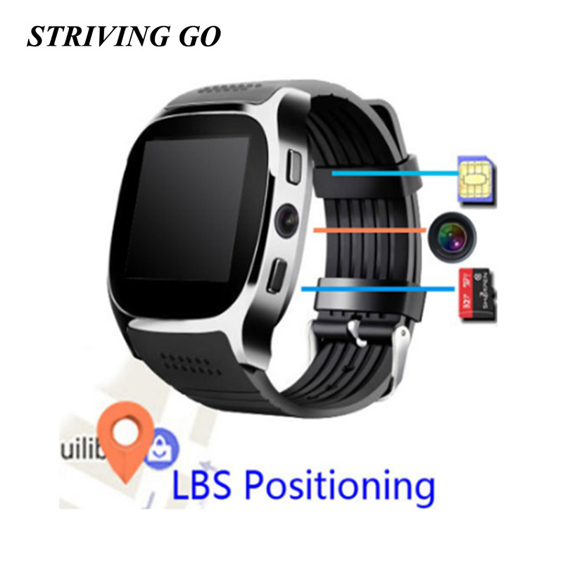 T8 Bluetooth Touch Screen Smart Watch With Camera Bluetooth WristWatch For Android IOS Phone PK U8 A1 DZ09 Q18 X6