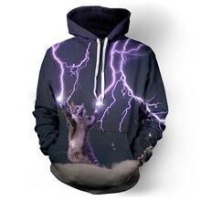 Hoodies männer sweatshirt hip hop lustige 3d stromschlag cat hoodie neuheit harajuku long sleeves marke clothing unisex pullover
