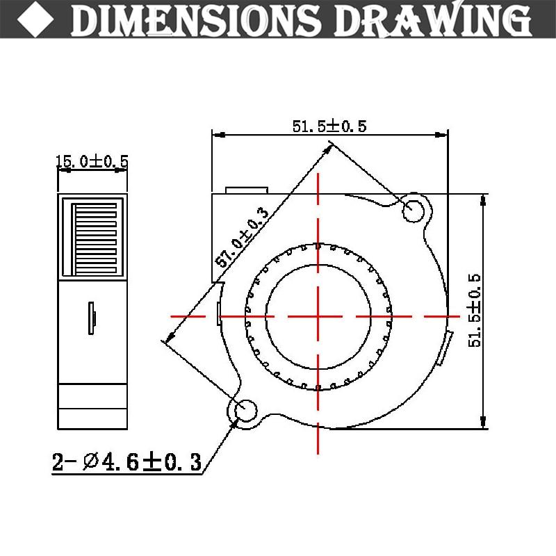 Купить с кэшбэком 5pcs/lot Gdstime 50mmx50mmx15mm 3600RPM 5cm 5015 50mm Radial Turbo Blower Fan DC 12V For Computer CPU Cooling