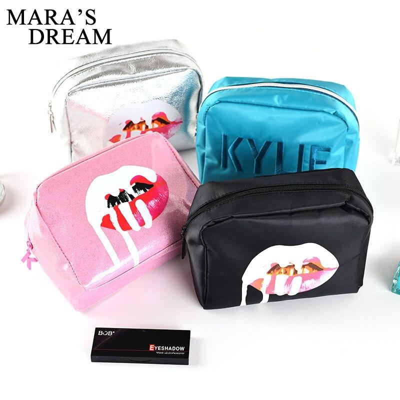 Mara's Dream 2019 Women's Waterproof Travel Cosmetic Bag Portable Zipper Lip Makeup Bag Girl Function Makeup Box Beauty Toiletri